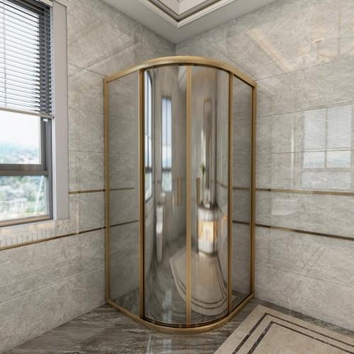 Gold Reflective Oval Duşakabin