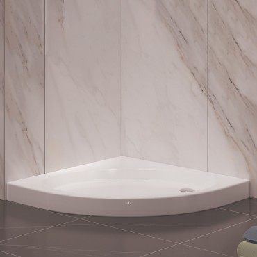 Oval Monoblok Duş Teknesi - Yükseklik: 11 Cm